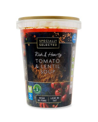 Rich & Hearty  Tomato & Lentil Soup
