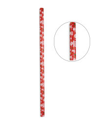 Ho Ho Ho Red Extra Wide Gift Wrap 6m