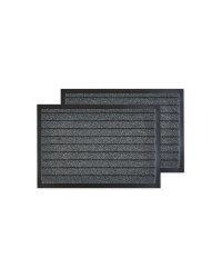 Grey Striped Utility Mats Twin Pack