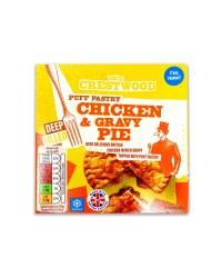 Puff Pastry Chicken & Gravy Pie