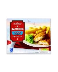 4 Battered Cod Fish Fillets