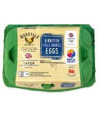 6 Large British Free Range Eggs