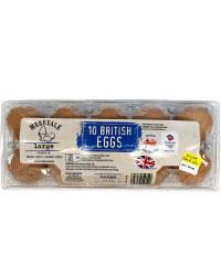 10 Large British Eggs