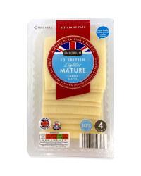 10 Lighter Mature Cheddar Slices