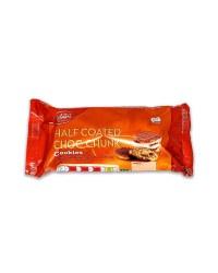 Half Coated Chocolate Chunk Cookies