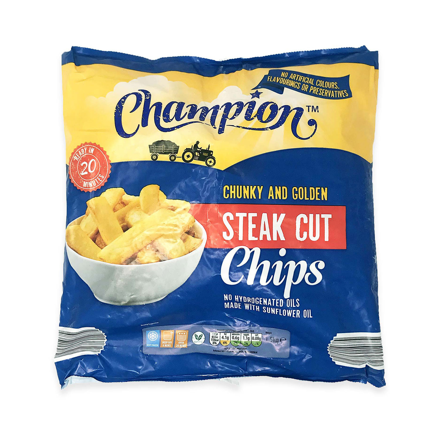 Chunky And Golden Steak Cut Chips