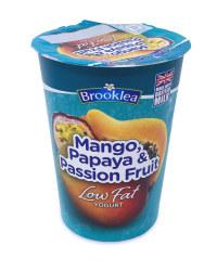 Mango, Papaya & Passion Fruit Yogurt