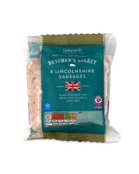 Butcher's Sausages Lincolnshire
