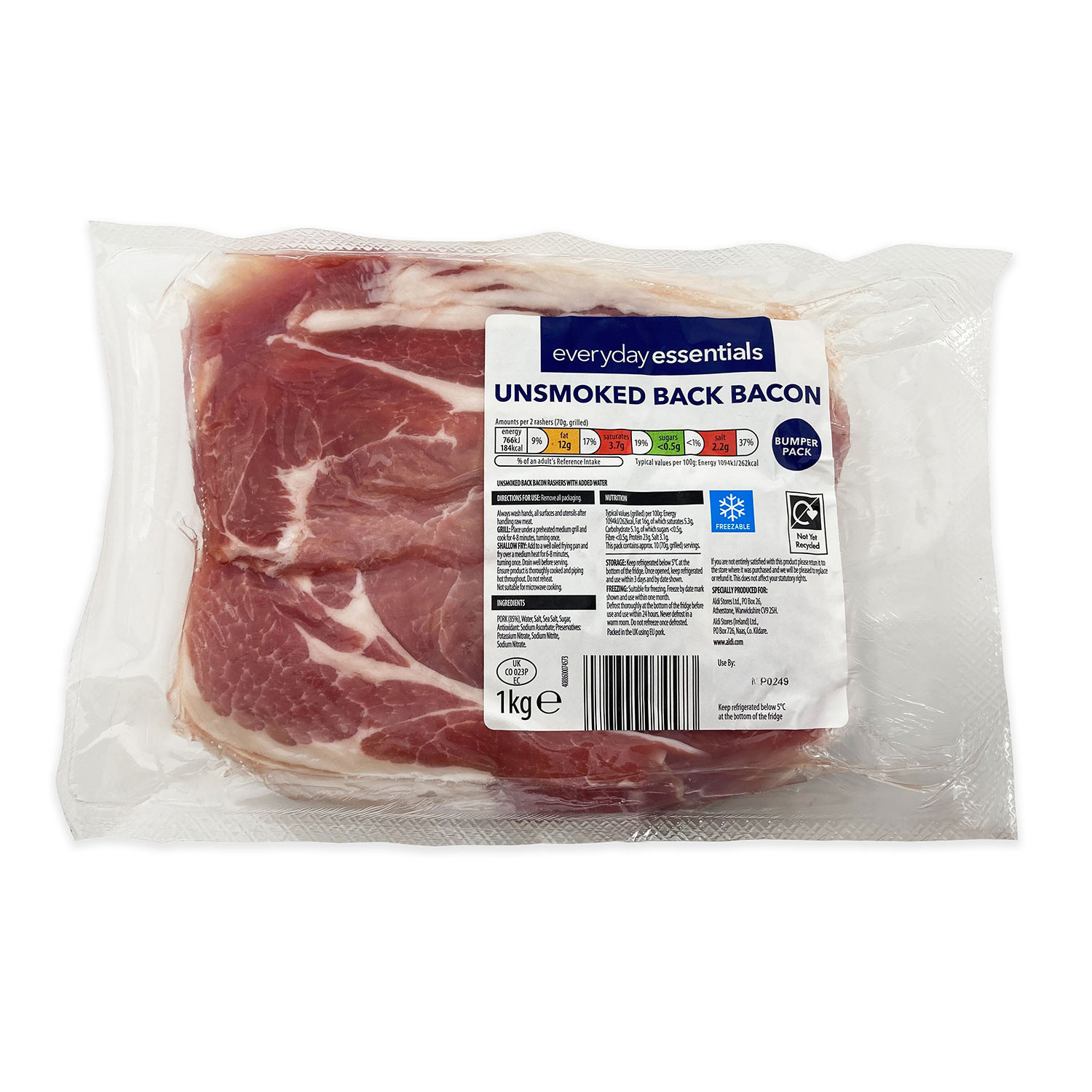 Unsmoked Back Bacon Bumper Pack