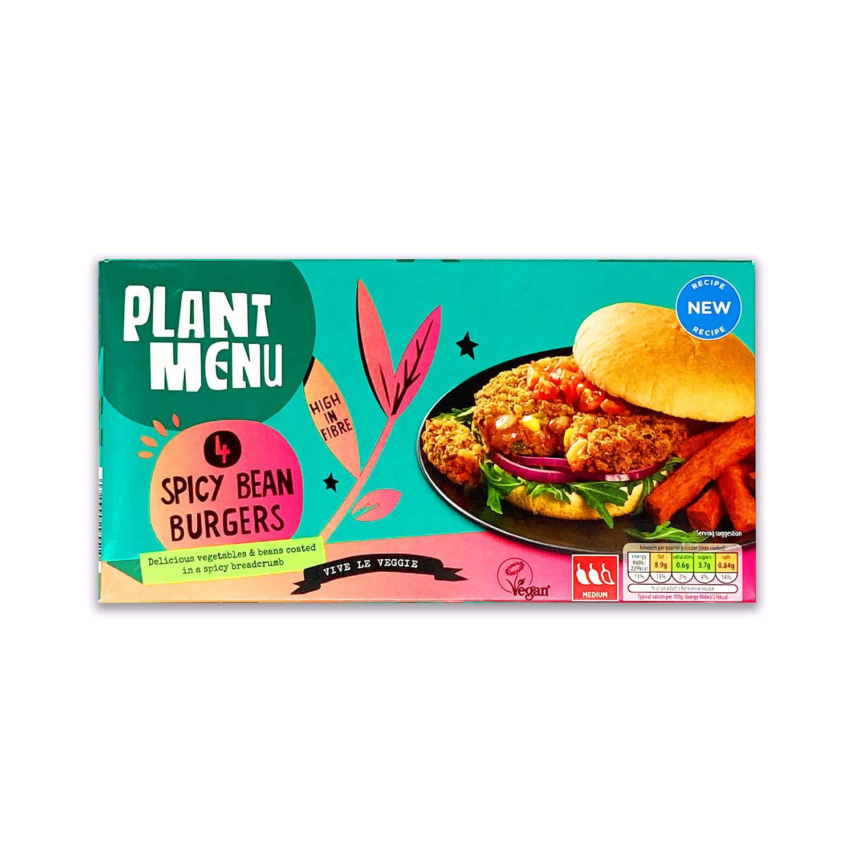 Plant Menu 4 Spicy Bean Burgers
