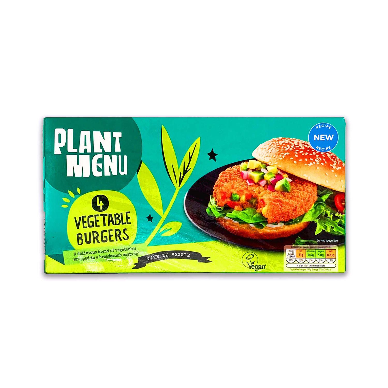 Plant Menu 4 Vegetable Burgers