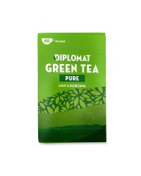 Diplomat Pure Green Tea Bags 40 Pack