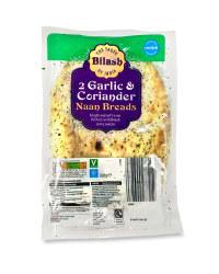 2 Garlic & Coriander Naan Breads