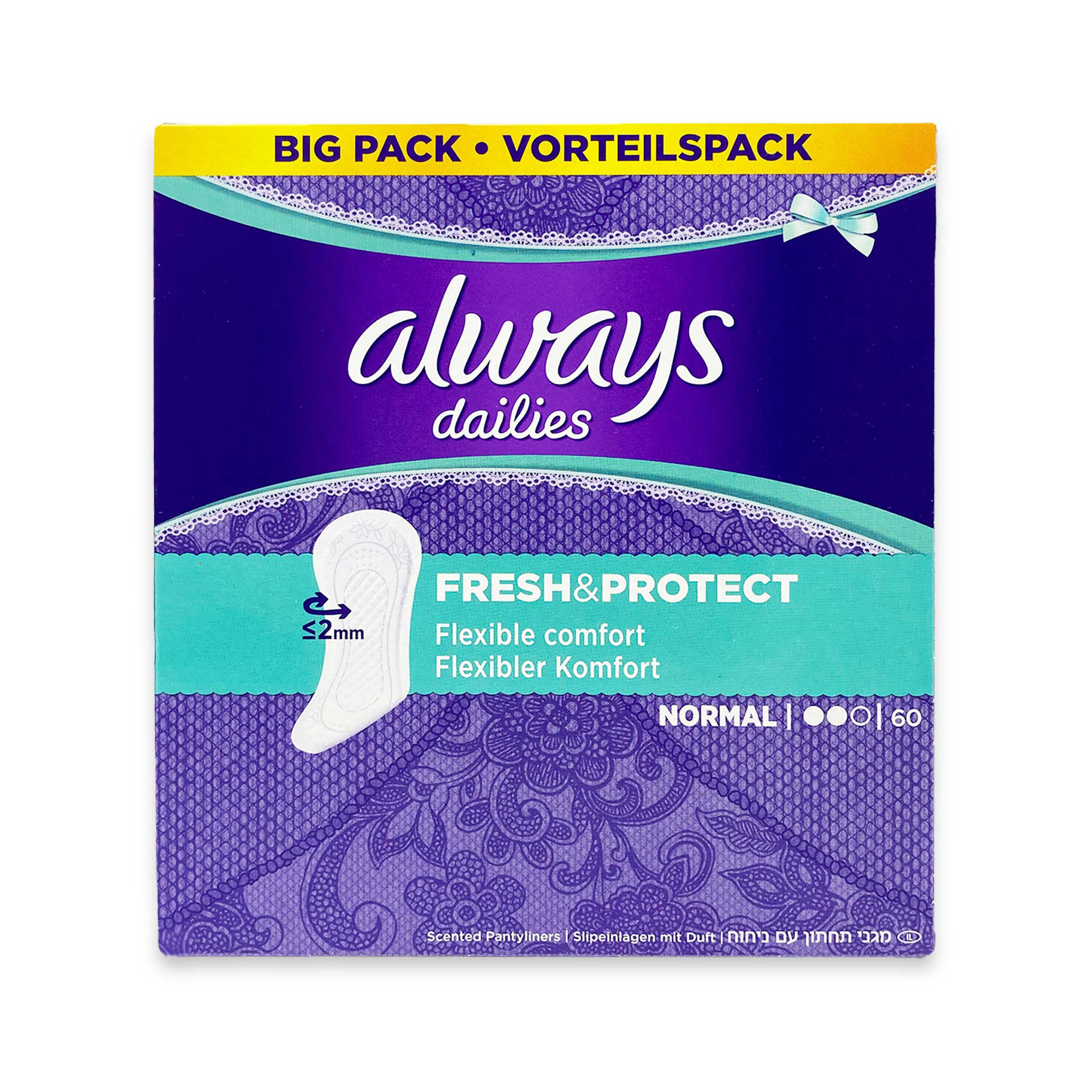 Fresh & Protect Panty Liners Normal