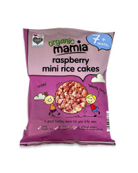 Mini Raspberry Rice Cakes