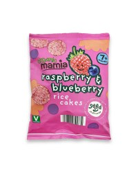 Raspberry and Blueberry Rice Cakes