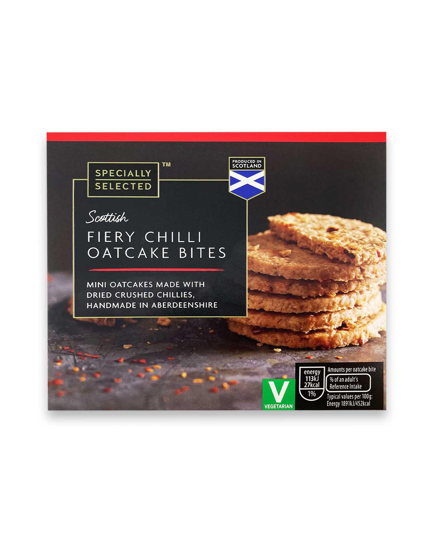 Scottish Fiery Chilli Oatcake Bites