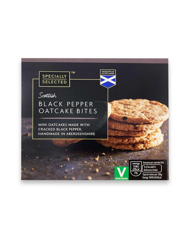 Scottish Black Pepper Oatcake Bites