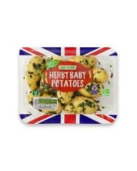 British Herby Baby Potatoes