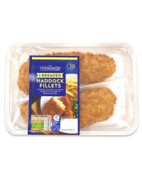 2 Breaded Haddock Fillets