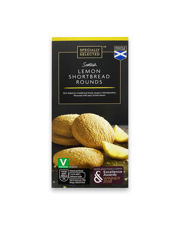 Scottish Lemon Shortbread Rounds
