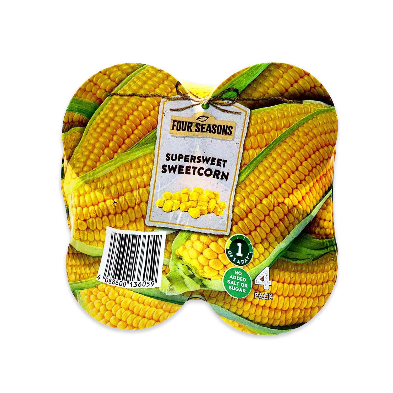 4 Pack Supersweet Sweetcorn