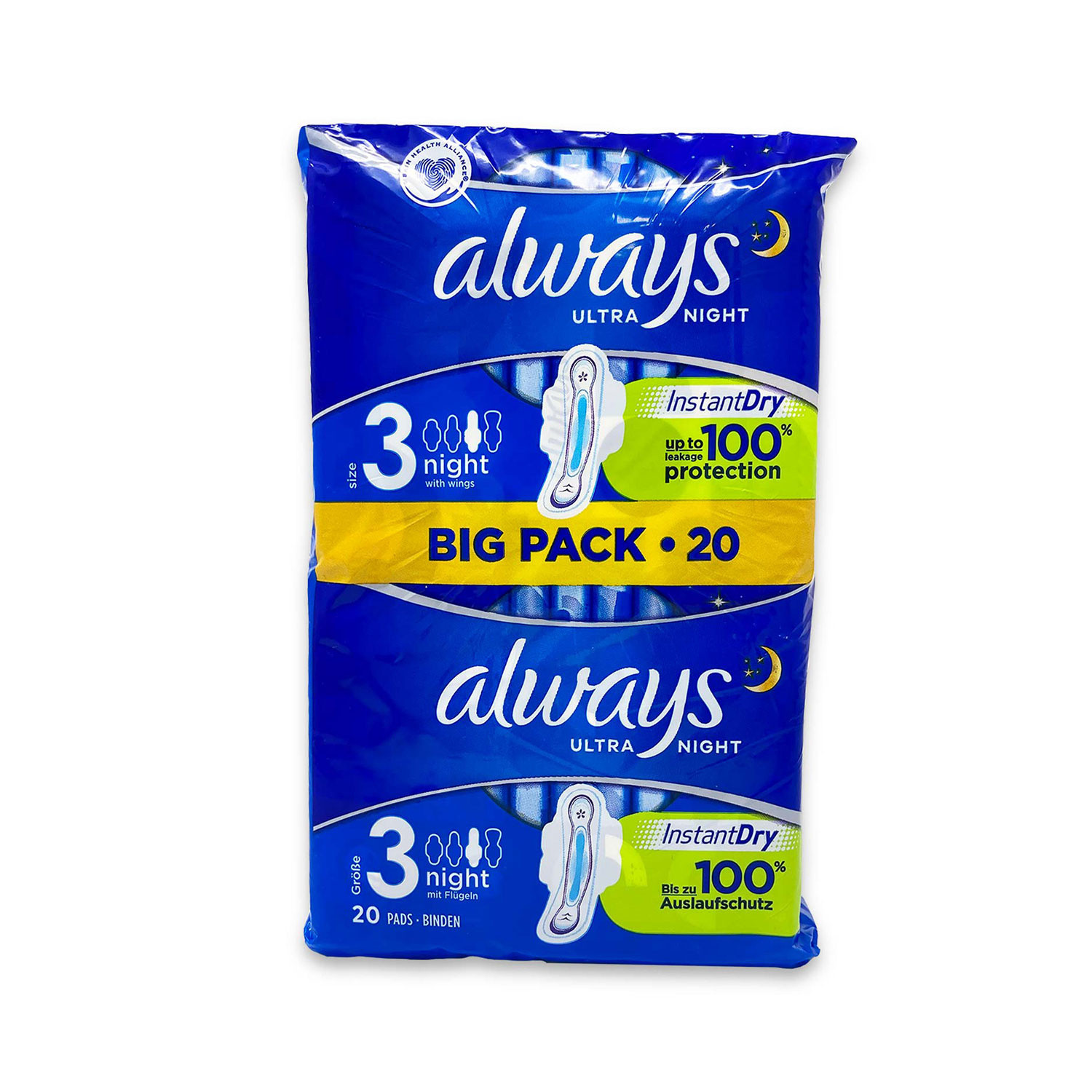 Ultra Night Winged Sanitary Towels
