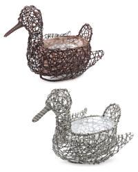 Rattan Effect Duck Planters