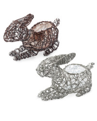 Rattan Effect Rabbit Planters