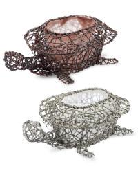 Rattan Effect Tortoise Planters