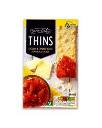 Thins Cheddar&Black Pepper Flatbread