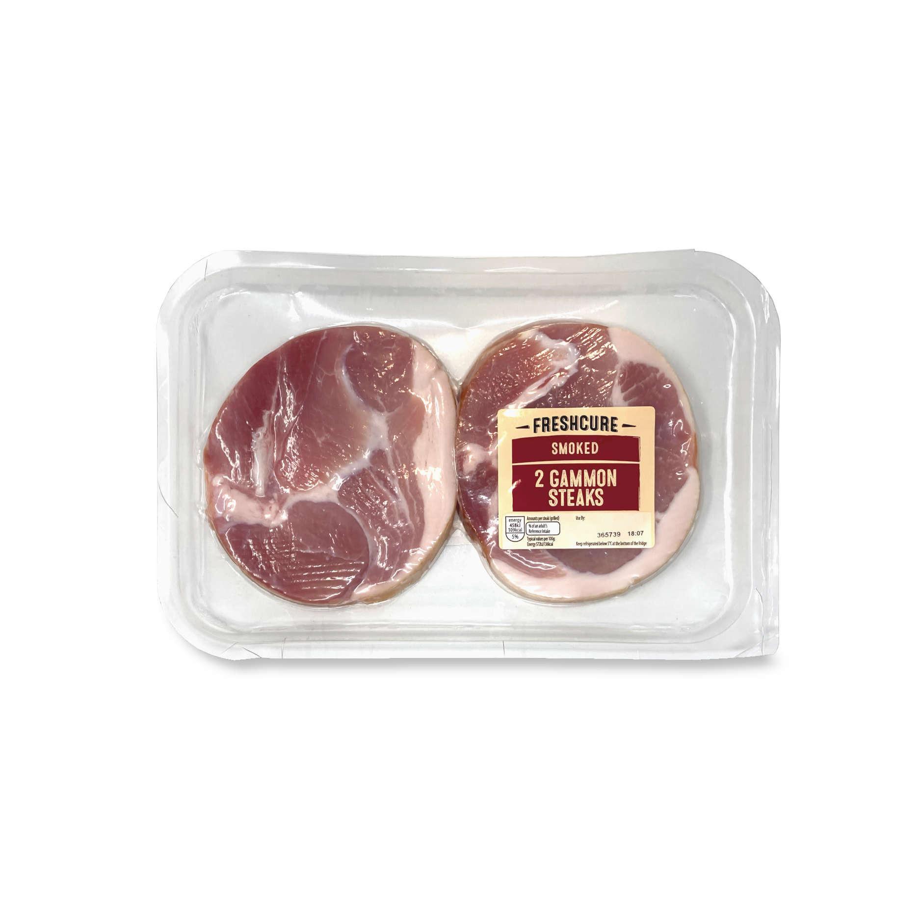 2 Smoked Gammon Steaks