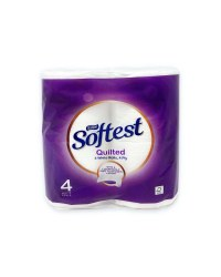 Saxon Quilted Toilet Tissue 4 Pack