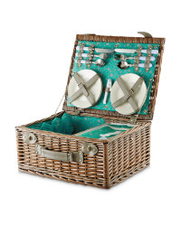 Square Wicker Picnic Basket