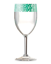 Blue & Teal Wine Glasses