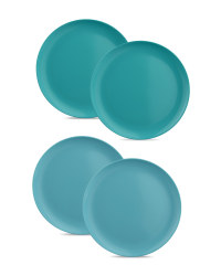 Teal & Blue Dinner Plates