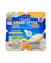 Light Greek Style Peach Yogurt