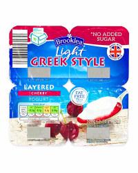 Light Greek Style Cherry Yogurt