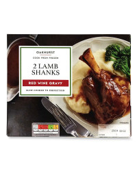 2 Lamb Shanks Red Wine Gravy