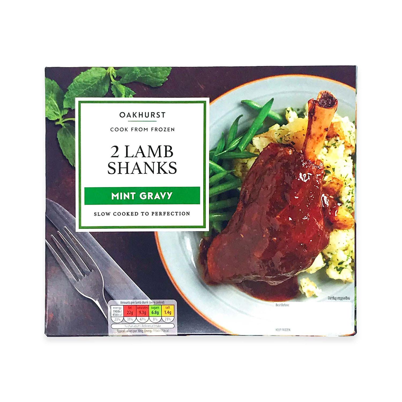 2 Lamb Shanks Mint Gravy