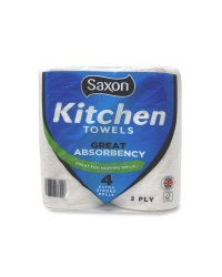 Saxon Standard Kitchen Towel 4 Pack