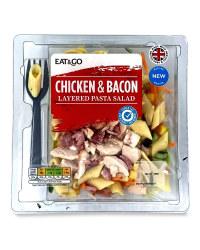 Chicken & Bacon Layered Pasta Salad