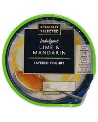 Lime & Mandarin Layered Yogurt
