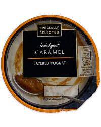 Indulgent Caramel Layered Yogurt