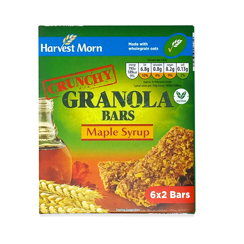 Crunchy Granola Bars Maple Syrup