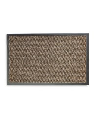 Brown Patterned Dirt Resistant Mat