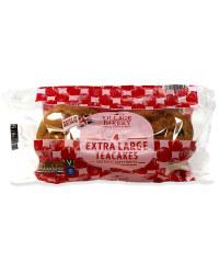 4 Extra Large Teacakes