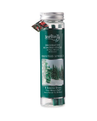 Frosted Spruce Tree Sticks 6 Pack