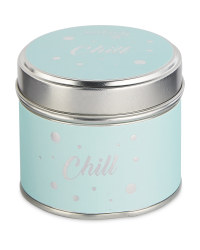 Scentcerity Chill Tin Candle