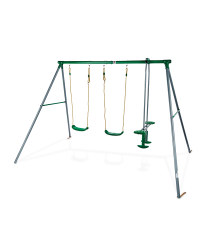Plum Double Swing With Glider Set